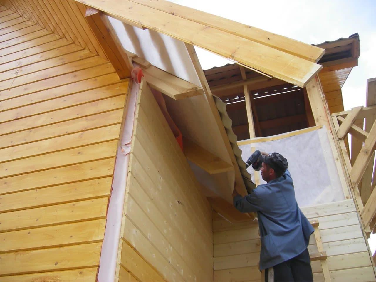 Построим каркас дома из лиственницы